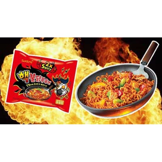 Samyang Διπλόκαυτερά Noodles - 2x Spicy! με Γεύση Κοτόπουλο! 140γρ